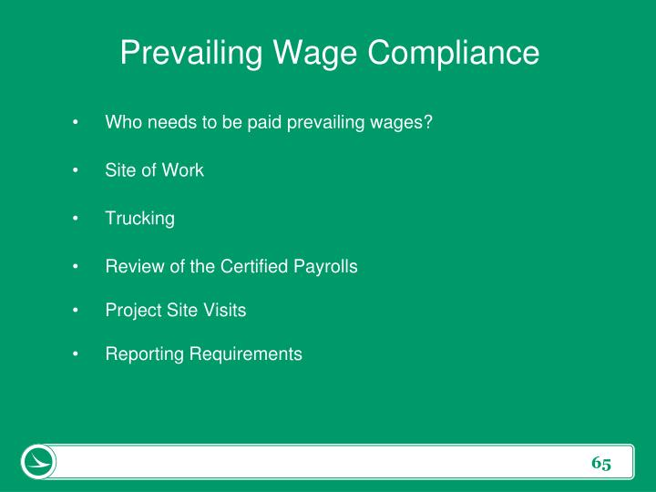 Prevailing Wage Compliance