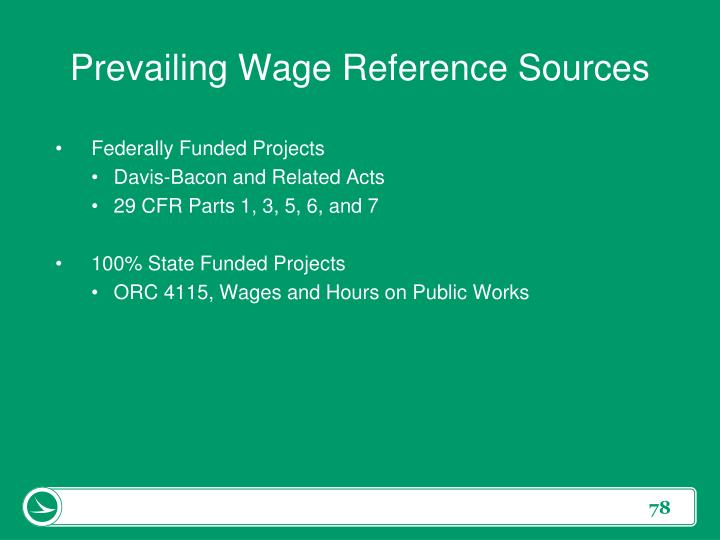 Prevailing Wage Reference Sources