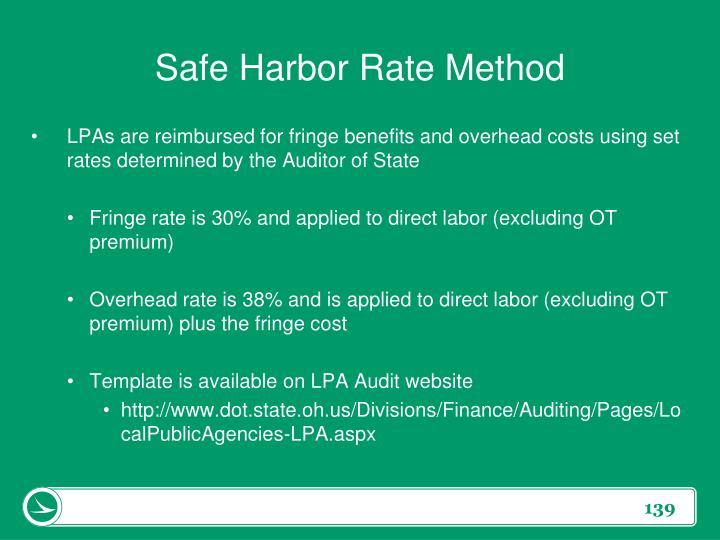 Safe Harbor Rate Method