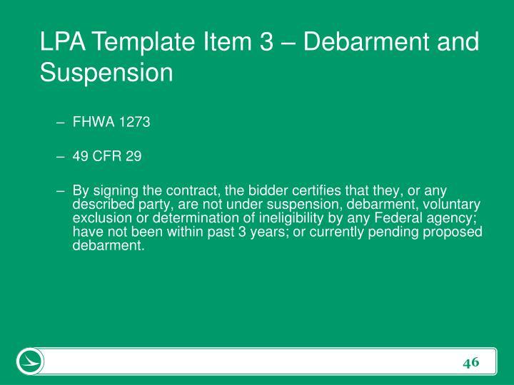 LPA Template Item 3