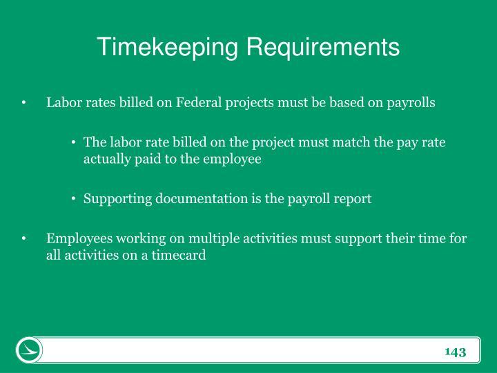 Timekeeping Requirements