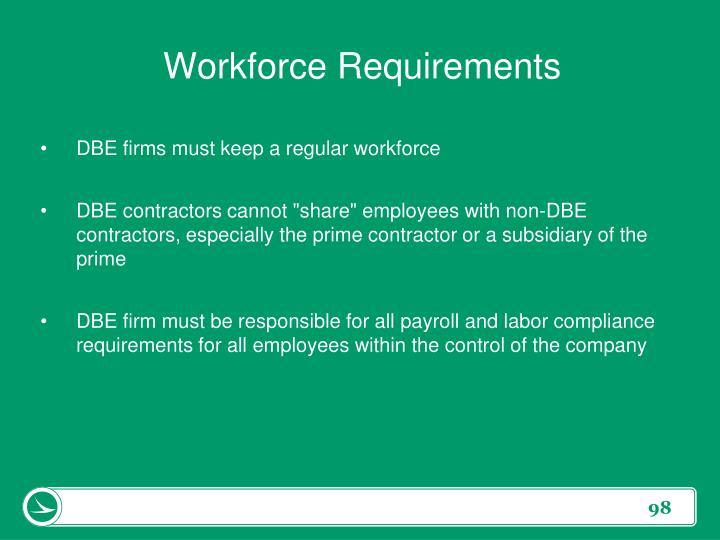 Workforce Requirements