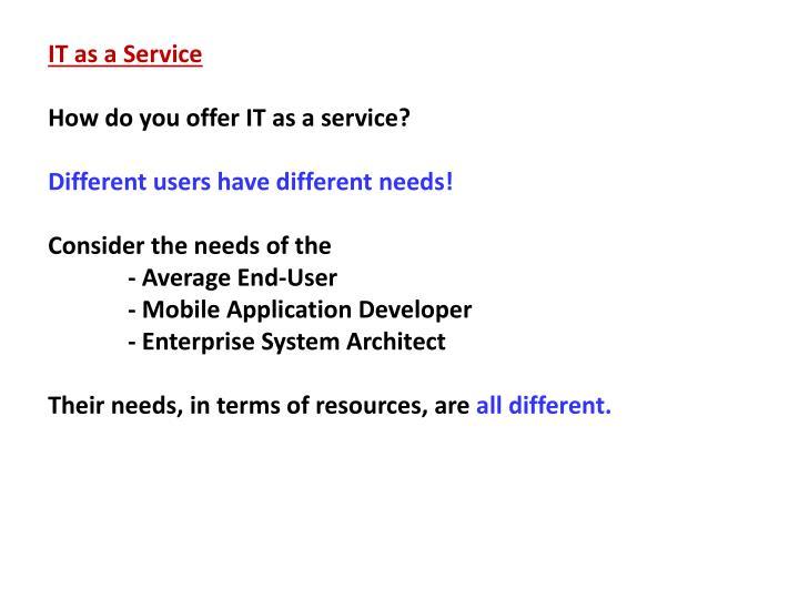 IT as a Service