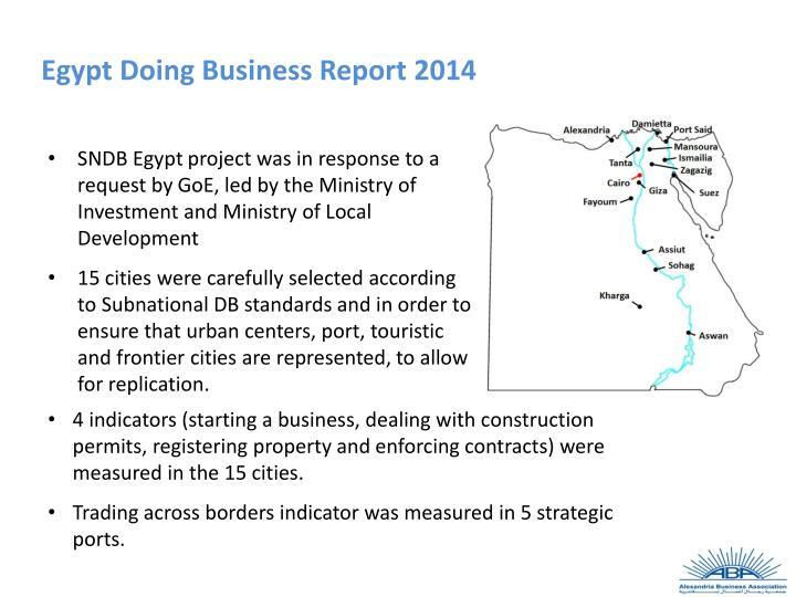 Egypt Doing Business Report 2014
