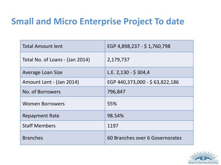 Small and Micro Enterprise