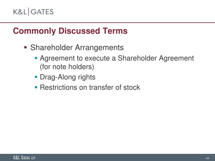 Commonly Discussed Terms