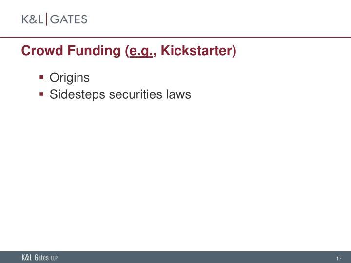 Crowd Funding (