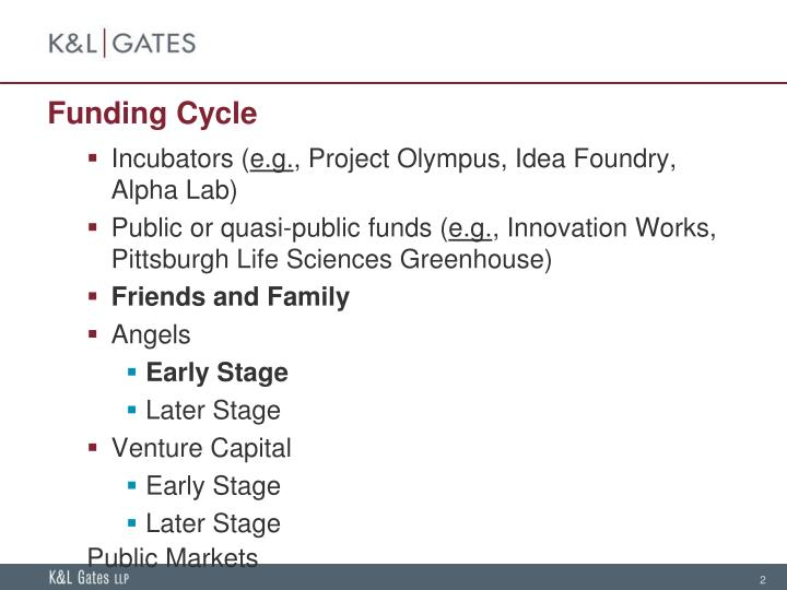 Funding cycle