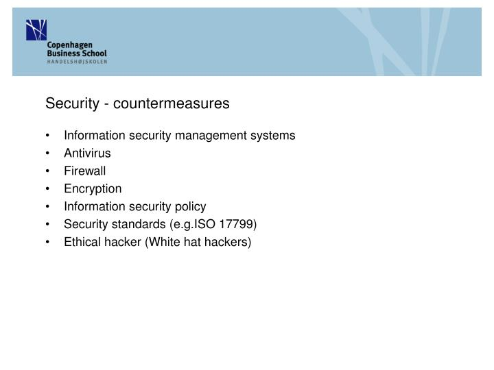 Security - countermeasures