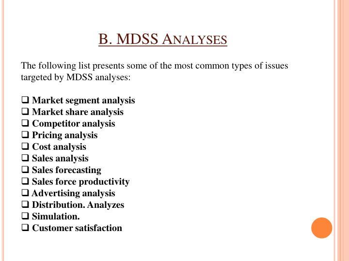 B. MDSS Analyses