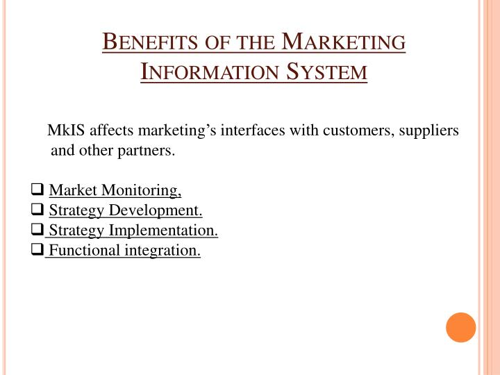 Benefits of the Marketing