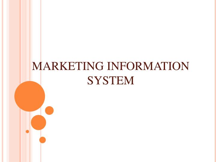 Marketing information system