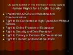 un world summit on the information society wsis human rights for a digital society