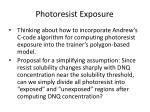 photoresist exposure