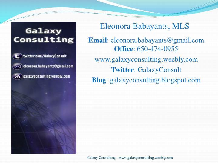 Eleonora Babayants, MLS
