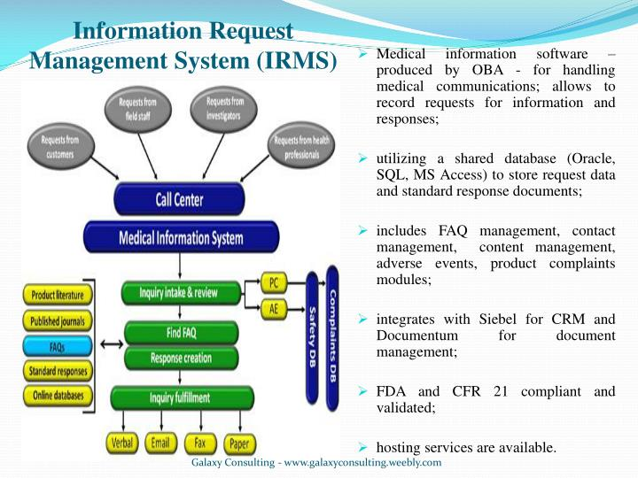 Information Request Management System (IRMS)