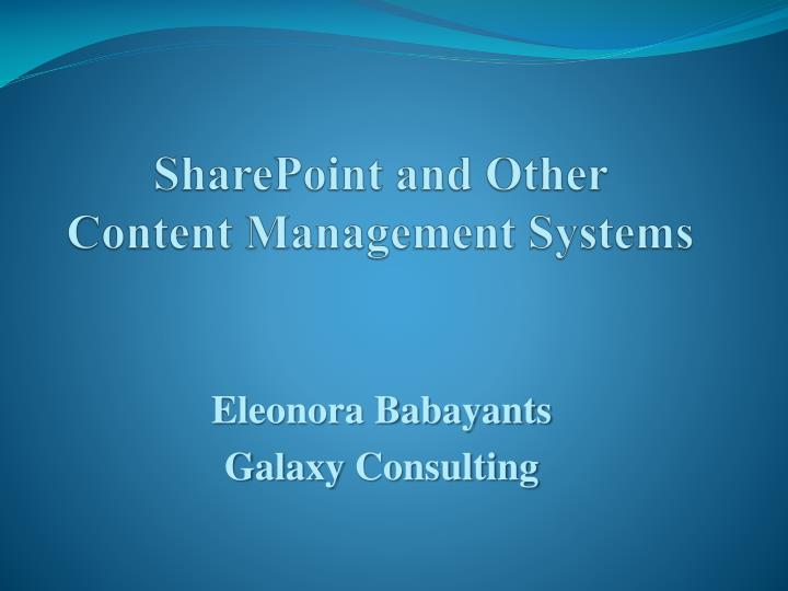 SharePoint and Other