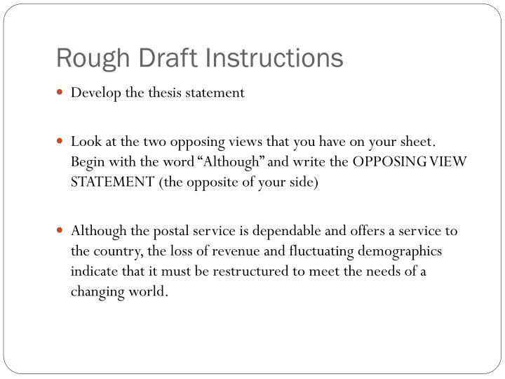 Rough Draft Instructions
