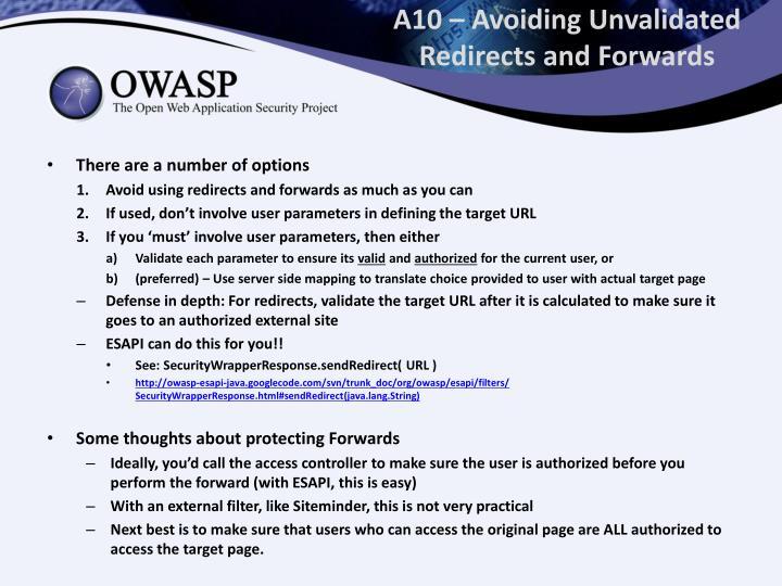 A10 – Avoiding
