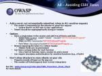 a8 avoiding csrf flaws