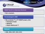 about the owasp top 10