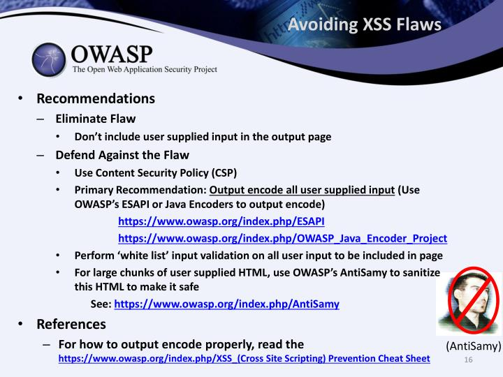 Avoiding XSS Flaws