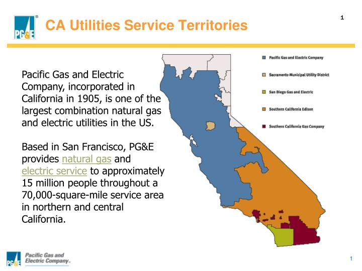 CA Utilities Service Territories