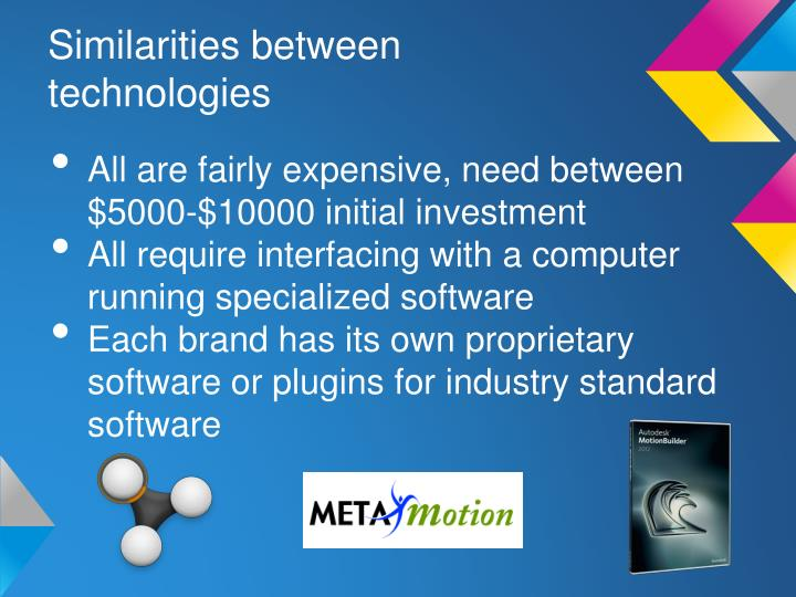 Similarities between technologies