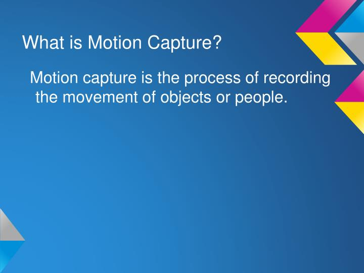 What is motion capture