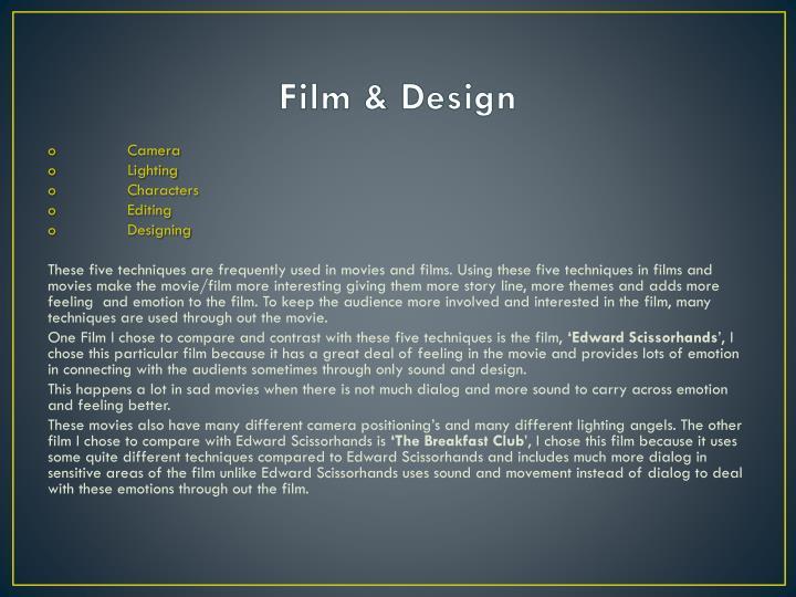 Film & Design
