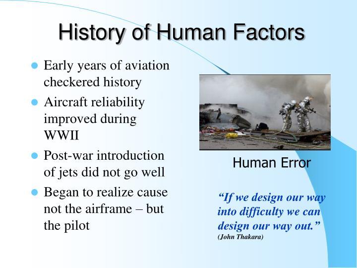 History of Human Factors