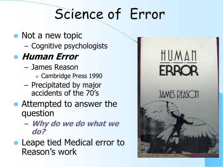 Science of  Error