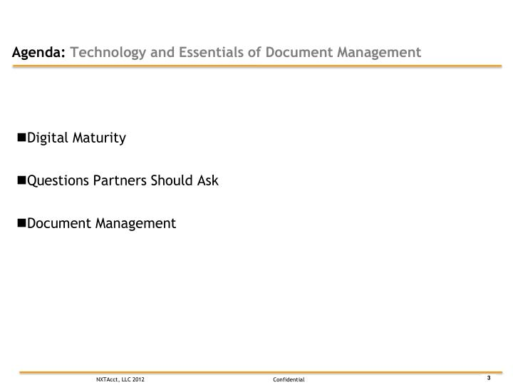 Agenda technology and essentials of document management