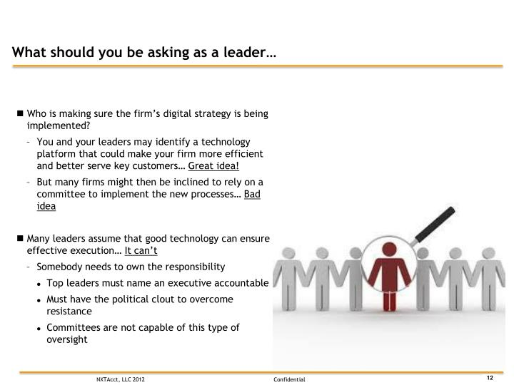 What should you be asking as a leader