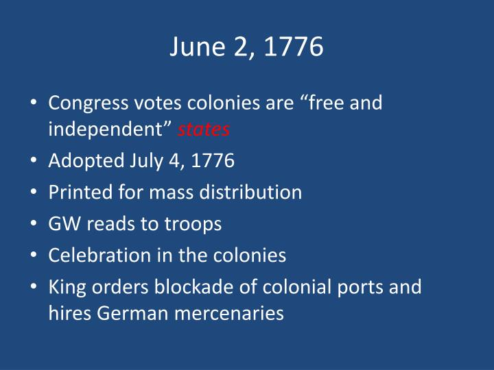 June 2, 1776