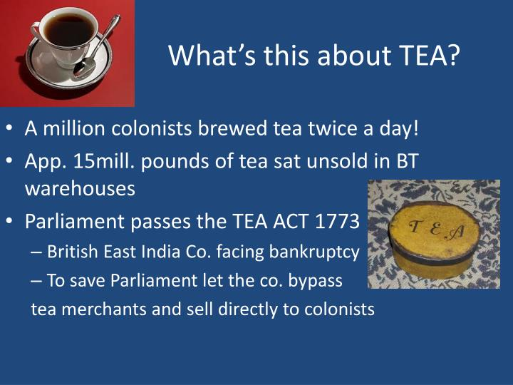 What's this about TEA?