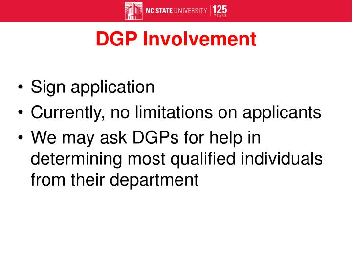 DGP Involvement