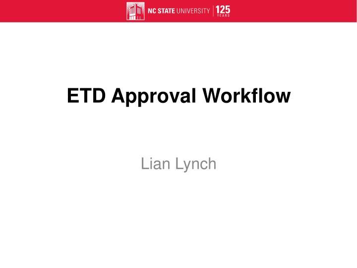 ETD Approval Workflow