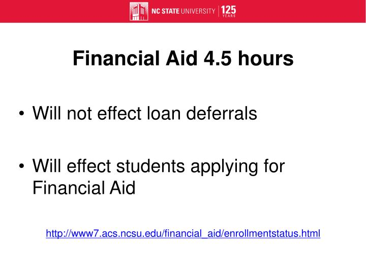 Financial Aid 4.5 hours