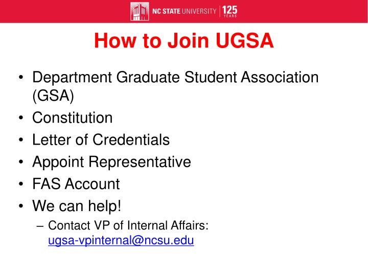 How to Join UGSA