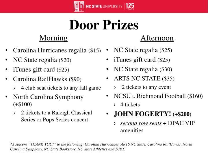 Door Prizes