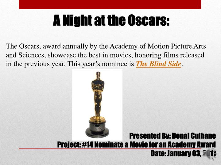 A Night at the Oscars:
