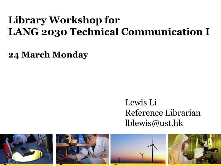 Library Workshop for