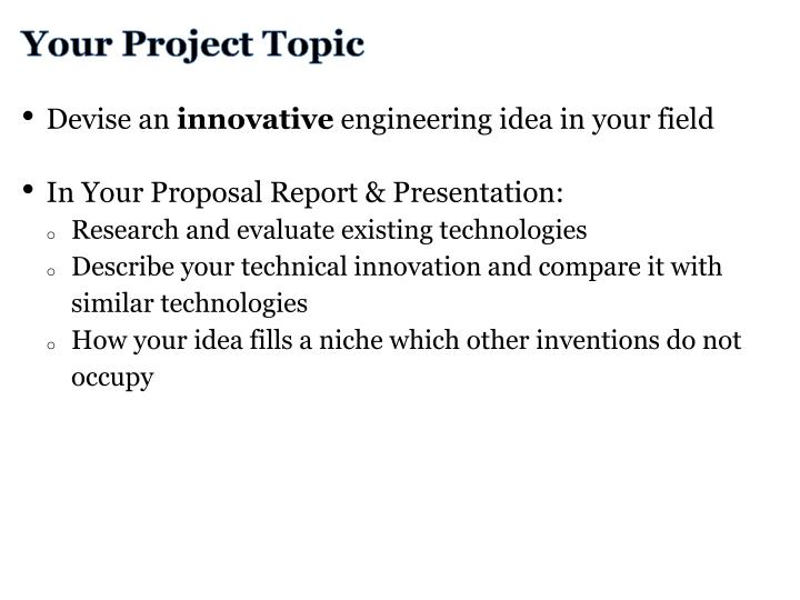 Your Project Topic