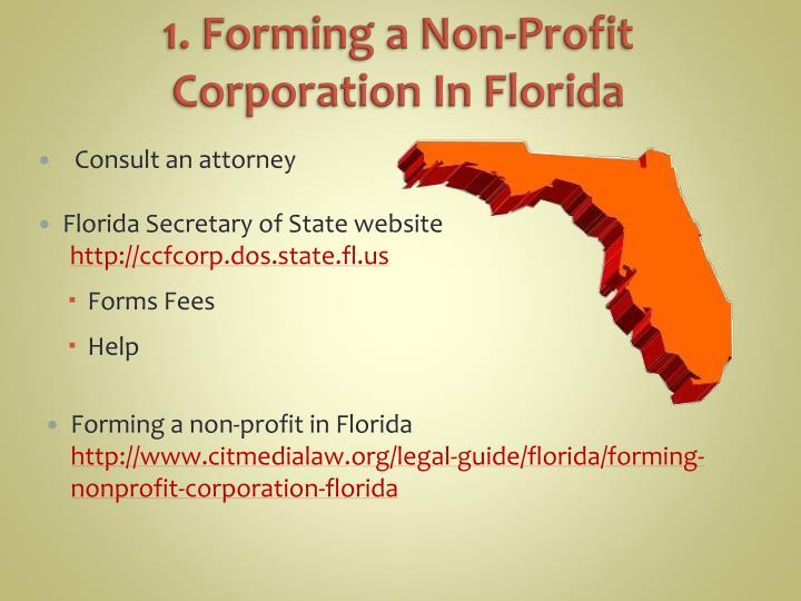 1. Forming a Non-Profit