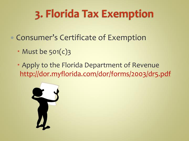 3. Florida Tax Exemption