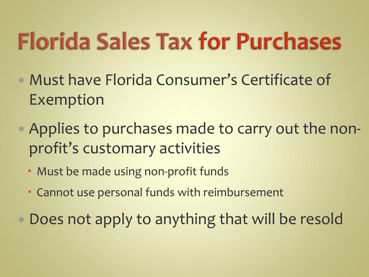 Florida Sales Tax