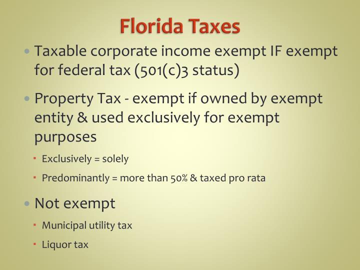 Florida Taxes