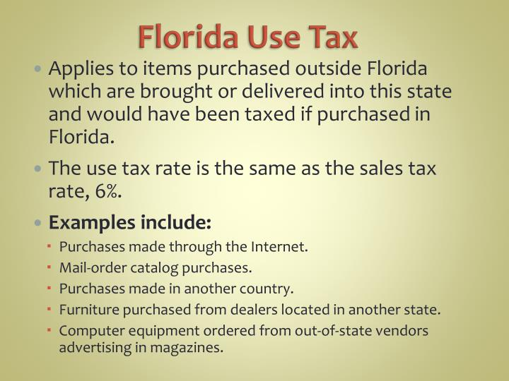 Florida Use Tax