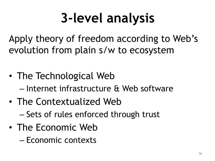 3-level analysis